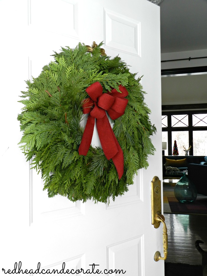 There are some really cute front porch decorating ideas for Christmas at the Christmas Wreath Giveaway...
