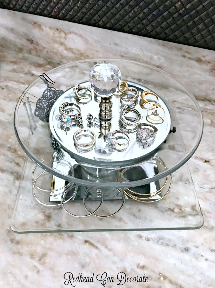 Here's a cool repurpose using 2 plates to make an Thrifty Elegant Jewelry Tray!