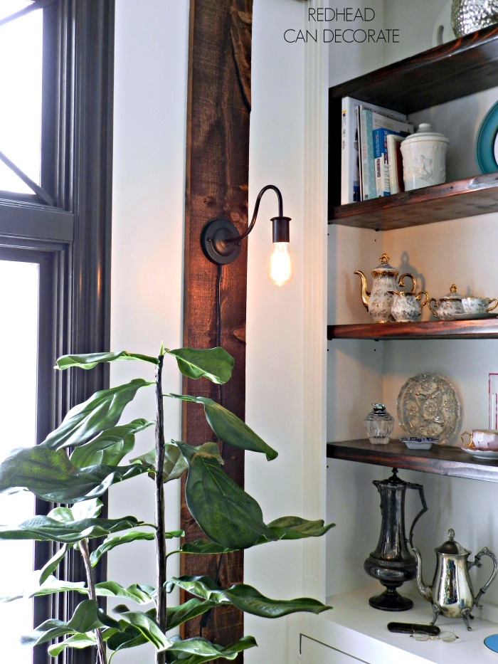 An Affordable Rustic Sconce with an exposable cord is the easiest way to add a light fixture to any room.
