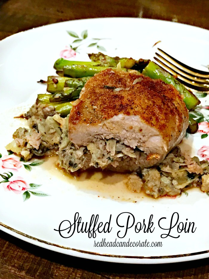 This Healthy Stuffed Pork Loin tastes fantastic without all the high calories of fattening stuffing.