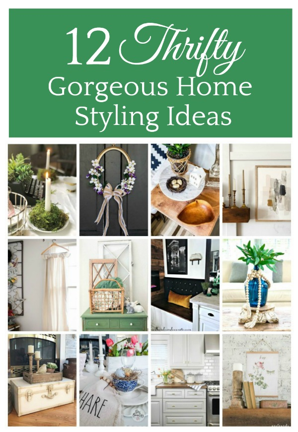 12 Gorgeous Home Styling ideas plus  Repurposed Vintage Clutch Purse in 7 ways!  Including home decor and organization!