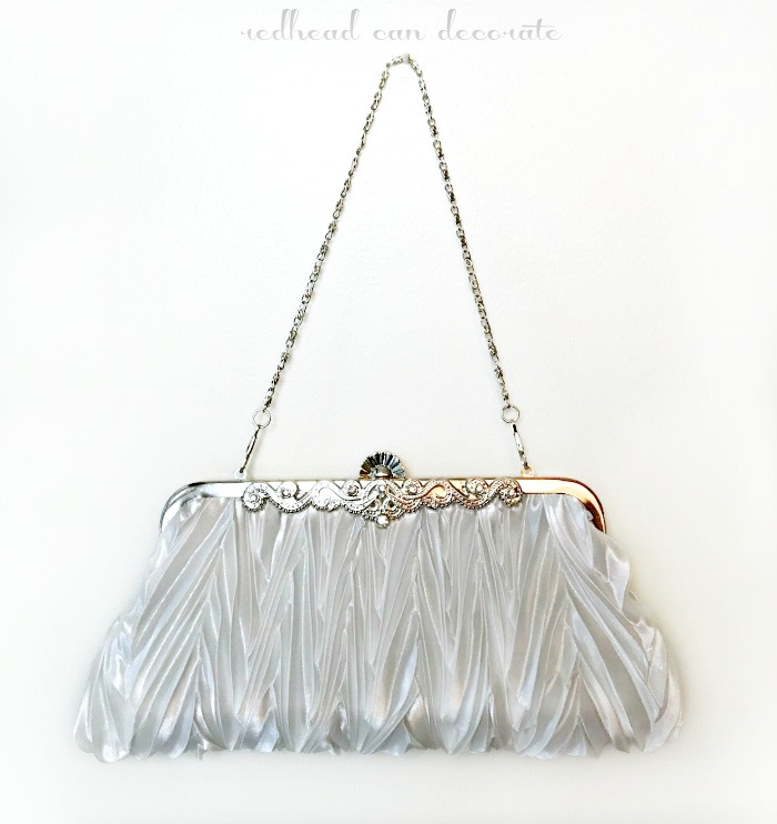 A Repurposed Vintage Clutch Purse in 7 ways!  Including home decor and organization!