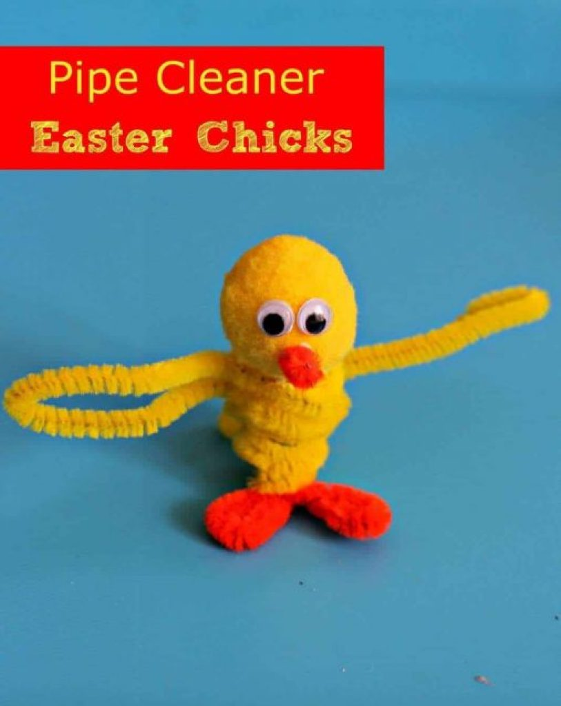 Pipe Cleaner Chick Button
