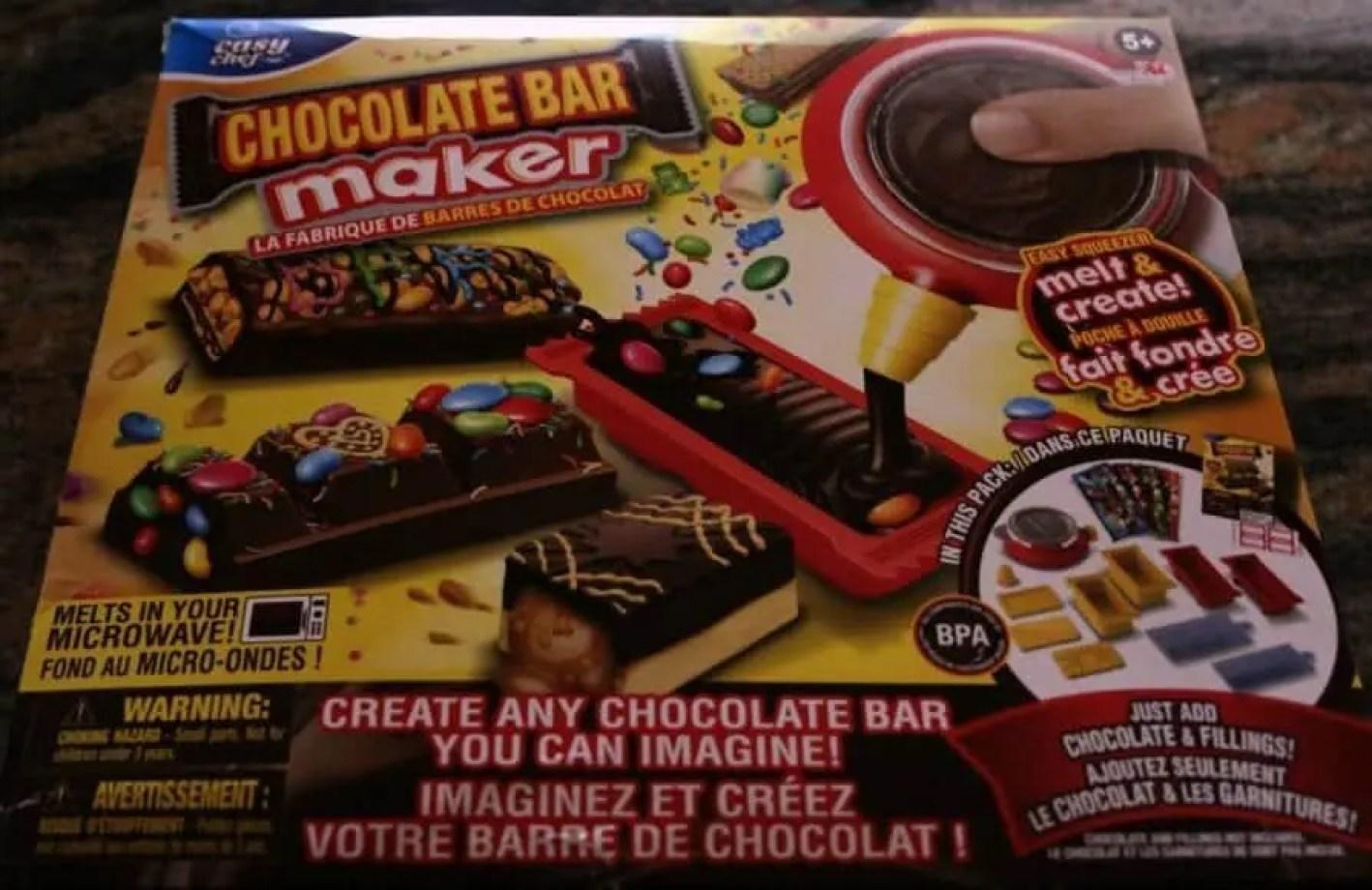 Chocolate bar maker box