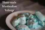 Home-made Marshmallow Icebergs