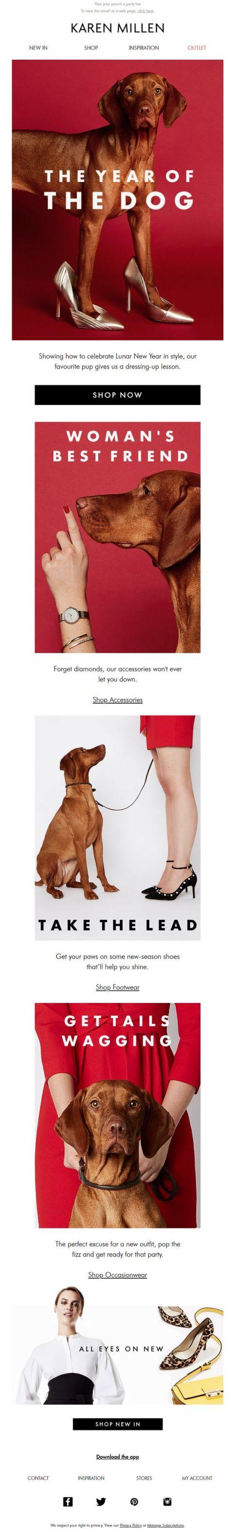 Year of the Dog New Year #Emma #NewYear #email #Marketing #ad