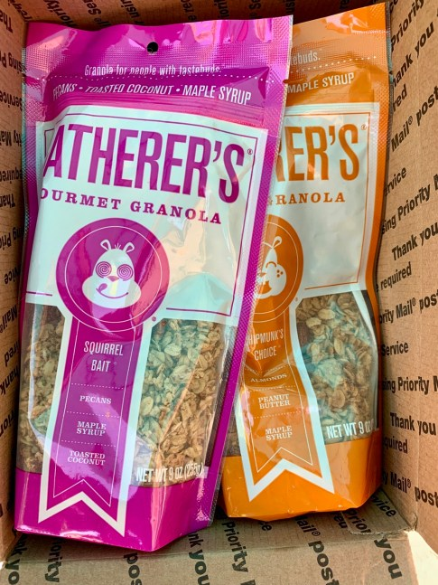 bags of granola in a box