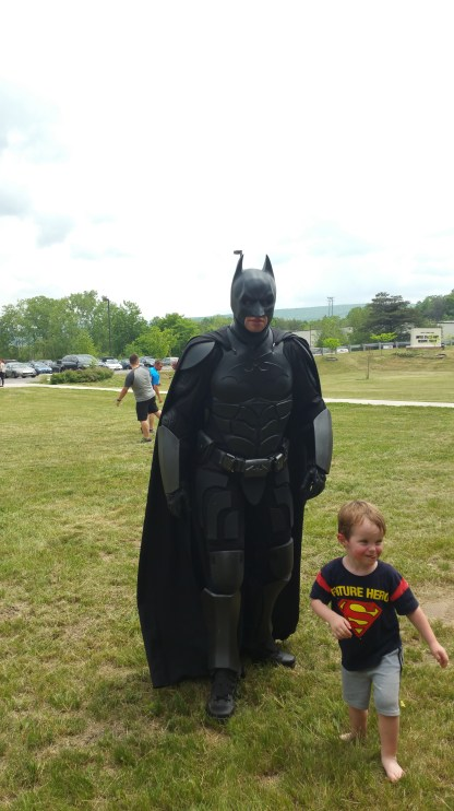 It's Batman! (And the little boy of a woman I was talking to)