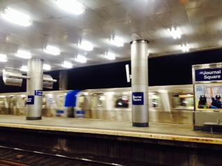 NYC train platform