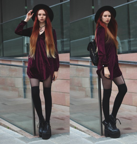 redheadventurer-liza-laboheme-fashion-take-outfit-pictures-by-yourself-summer-wine