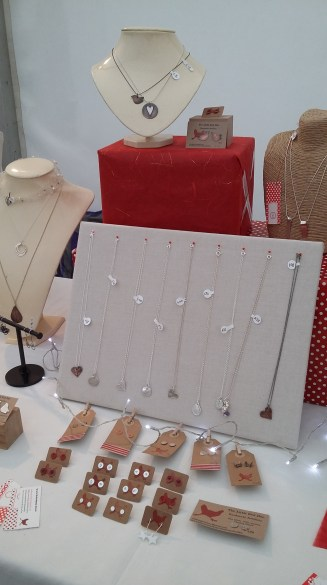 Pinned board display pendants pegs and labels