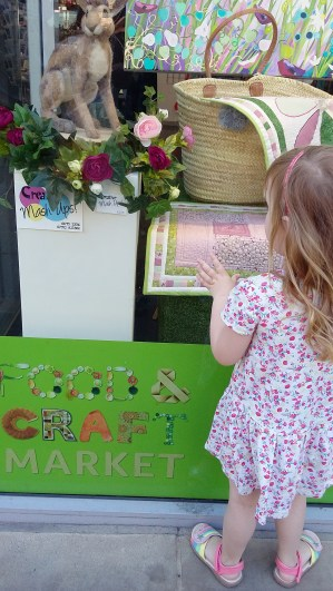 The Little Chick views the 'In Bloom' window display