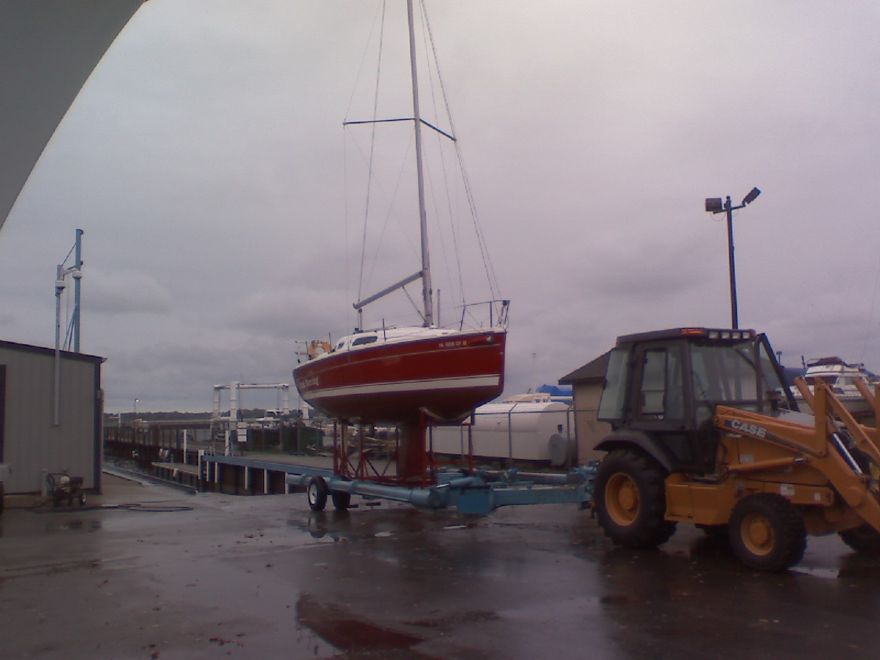 Red Herring on its way to winter storage