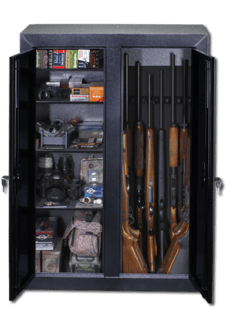 Stack On Buck Commander Double Door Gun Amp Bow Cabinet