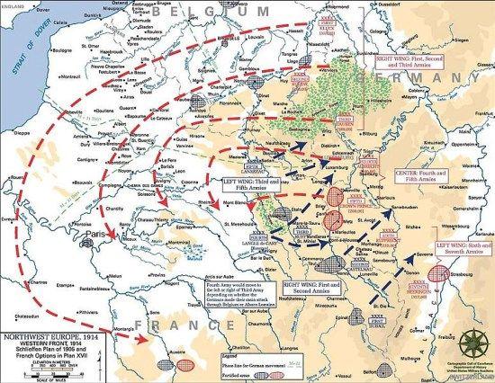 mapa plan schlieffen