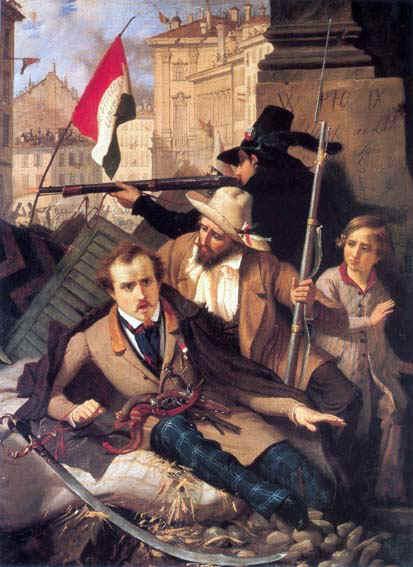 """""""Un épisode des cinq journées de Milan en 1848"""", de Baldassare Verazzi."""