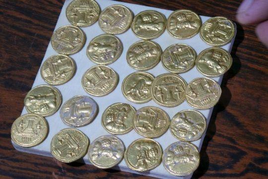 Monedas sasánidas encontradas en Iraq