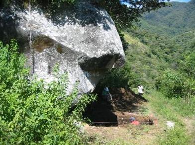 Lugar donde se encontraron las piedras chamánicas.