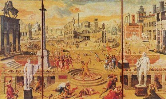 La Masacre del Triunvirato, de Antoine Caron