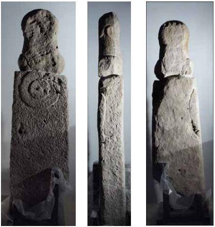 vistas de la estatua antigua de navarra