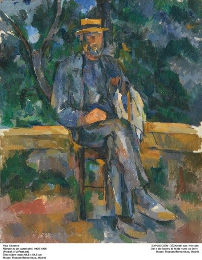 retrato de un campesino cezanne