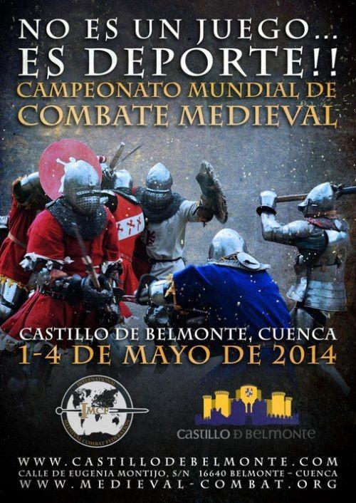 cartel campeonato mundial combate medieval españa 2014