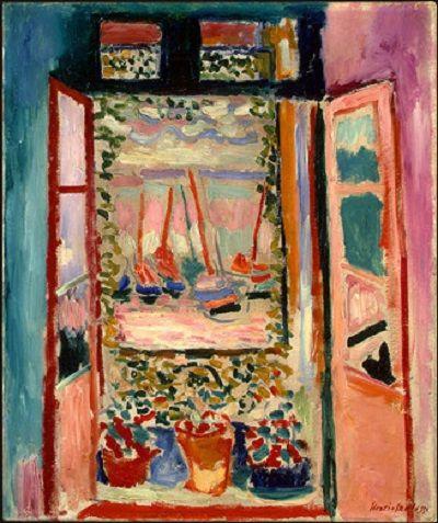 Ventana abierta, Henri Matisse, 1905, óleo sobre lienzo. Una de las pinturas exhibidas en el Salón de Otoño de 1905