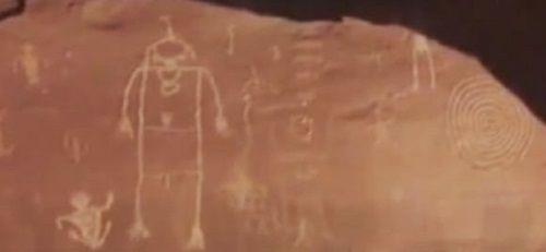 petroglifos encontrados con un dron utah
