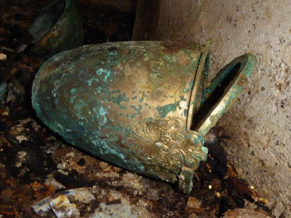 Recipiente encontrado en Vergina, Macedonia
