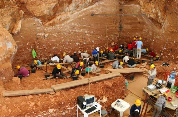 Trabajos arqueológicos en Atapuerca