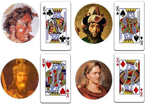 Cada uno de los reyes de la baraja representa a un gran Rey real.