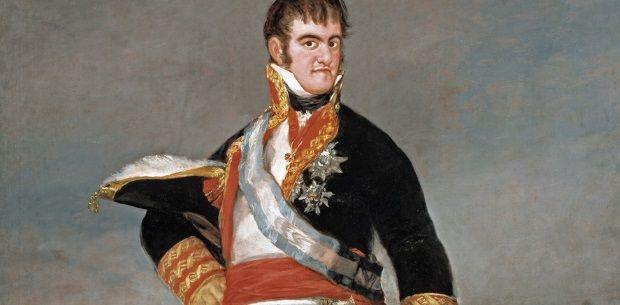 Fernando VII en un campamento, de Francisco de Goya.