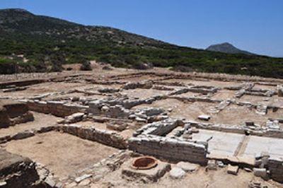 Contorno de los restos del santuario