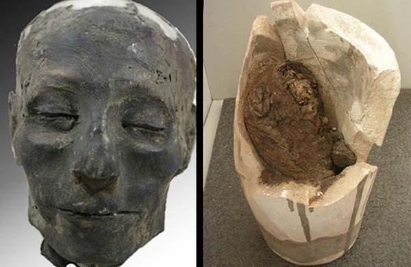 Momia de Nebiri, el primer caso de insuficiencia cardíaca detectado. Crédito: Museo egipcio de Turín.