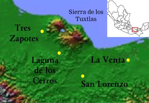 ubicacion yacimiento tres zapotes en mexico