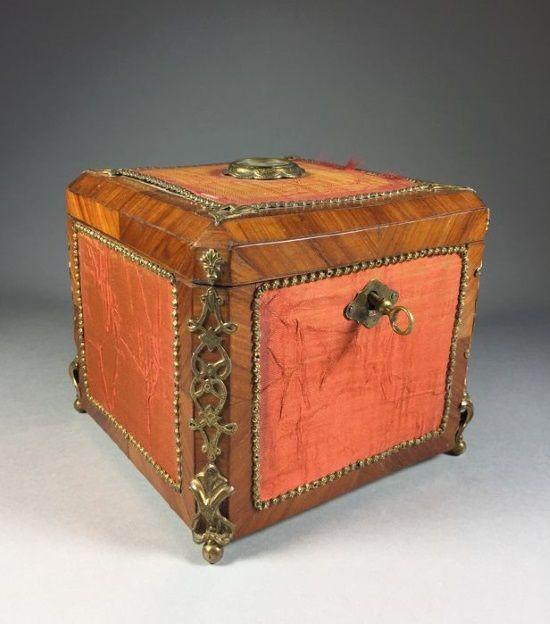 caja de te en madera