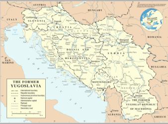 mapa yugoslavia
