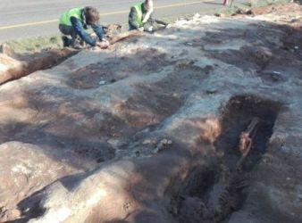excavacion necropolis medieval menorca