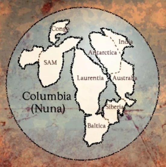 columbia supercontinente