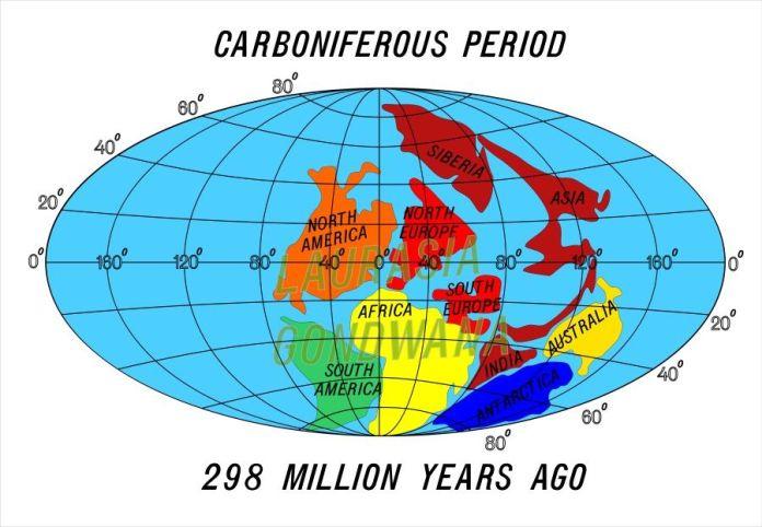 continentes periodo carbonifero
