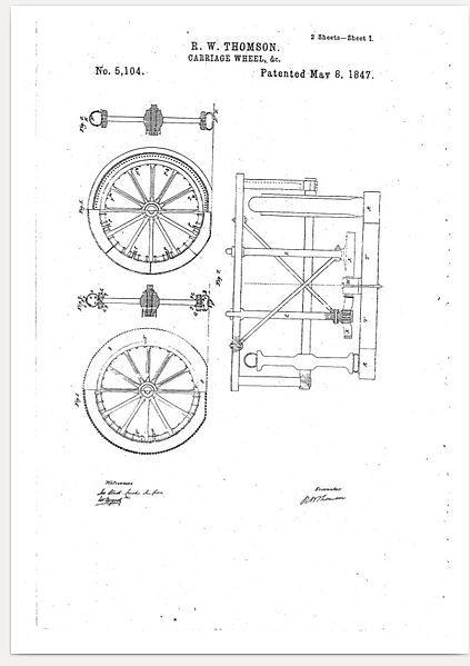patente neumatico thomson
