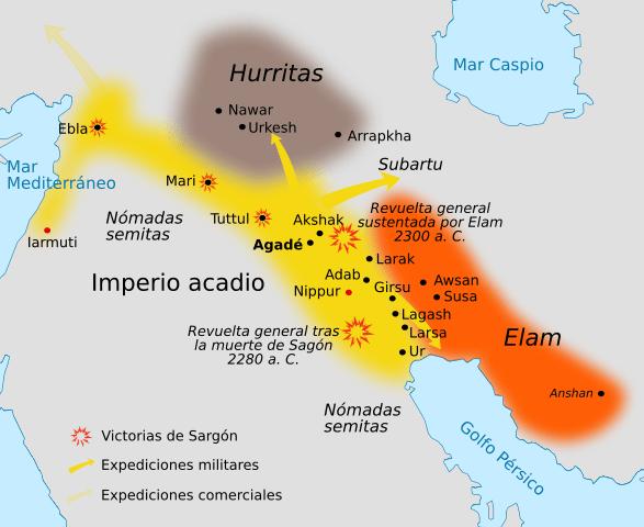 imperio acadio mapa
