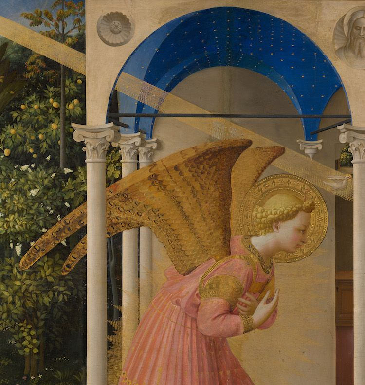 Detalle ángel y bóveda, antes de la restauración