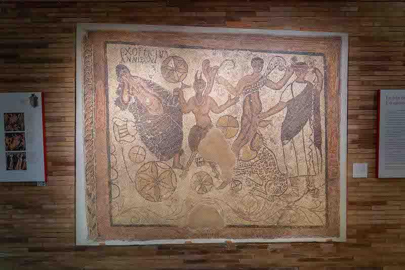 mosaico baco y ariadna merida
