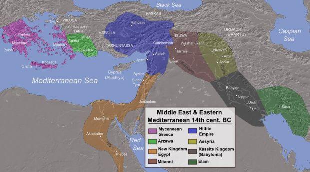 mapa imperios oriente medio antiguos