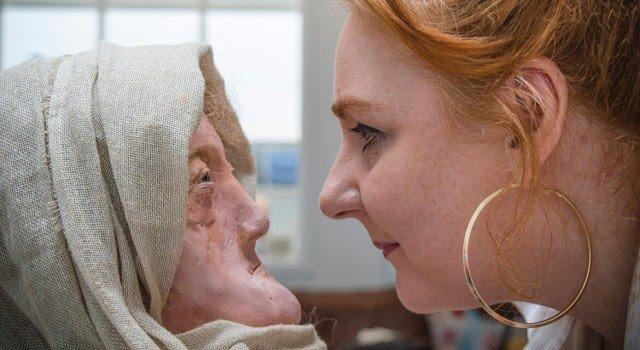 reconstruccion mujer druida edad hierro