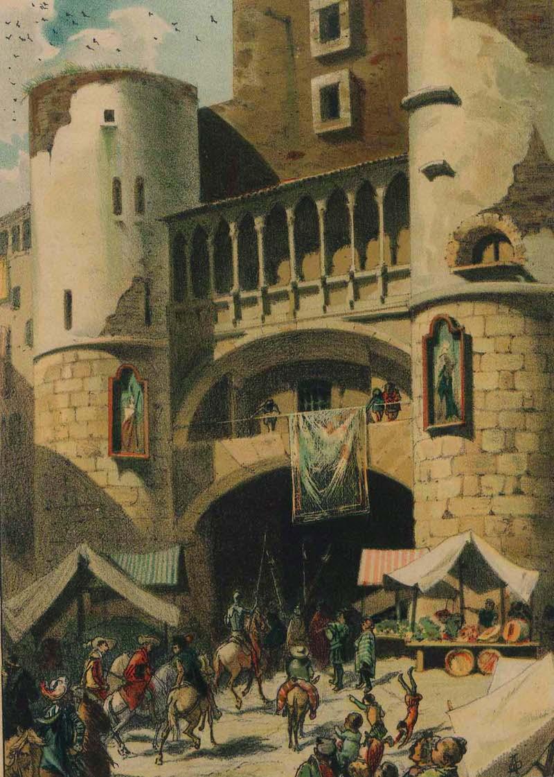 entrada del quijote en barcelona