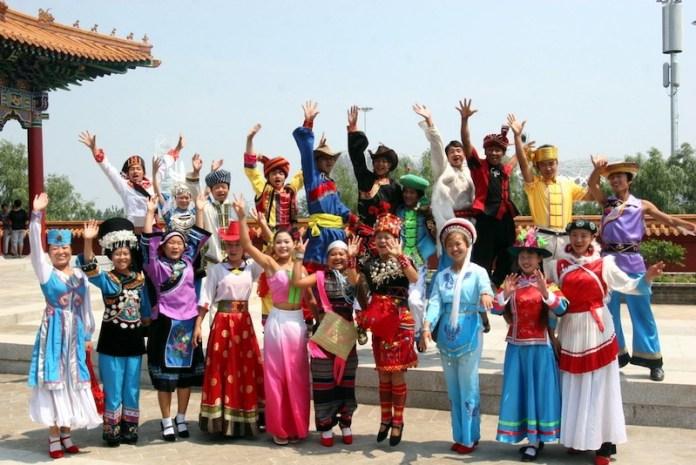 la nacion china tiene 56 grupos etnicos