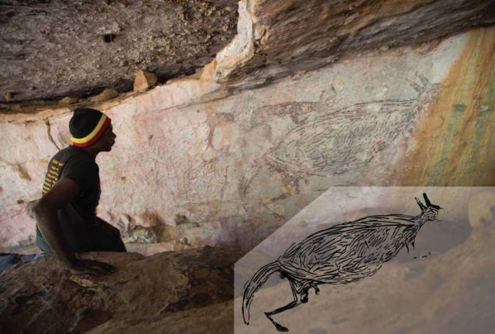 canguro pintura rupestre mas antigua australia