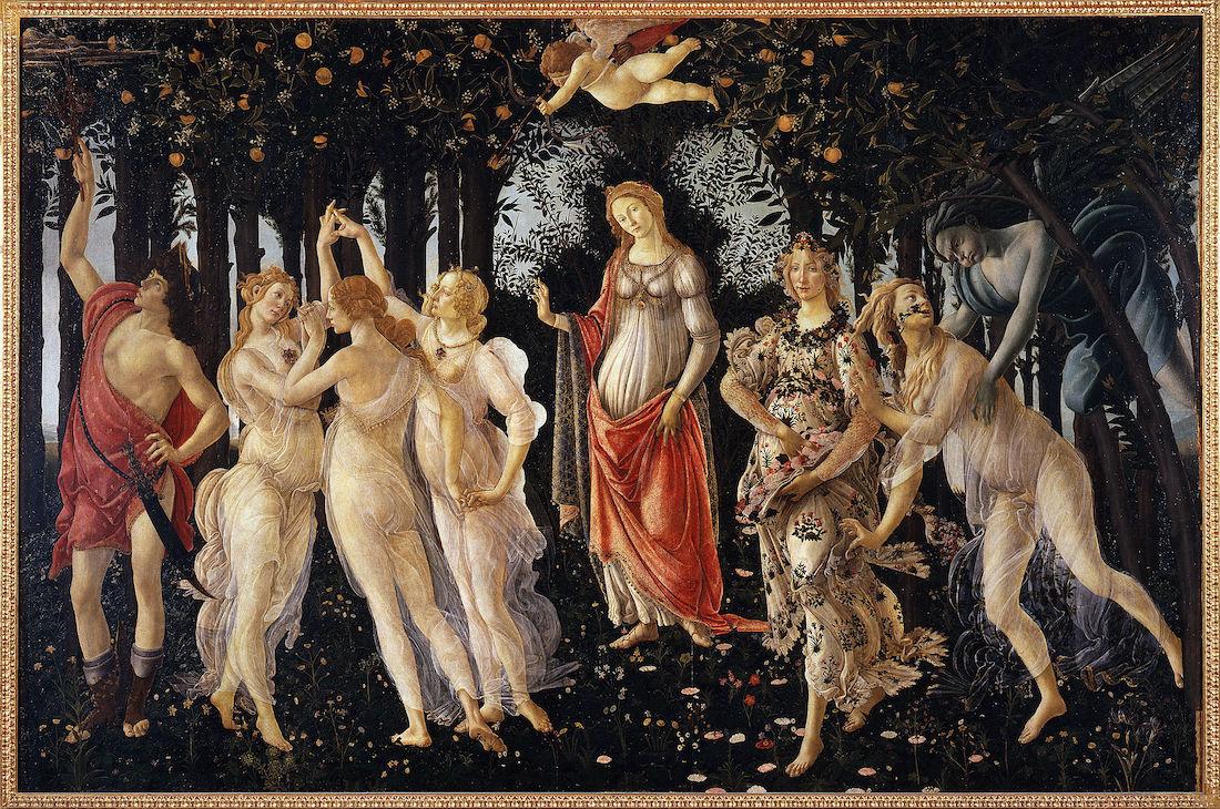 obra la primavera de sandro botticelli